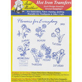 Flowers for Everyday Embroidery Transfer Pattern